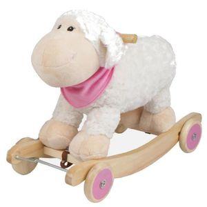 JOUET À BASCULE BAYER CHIC Mouton à Bascule Sonore avec Roues - Ro