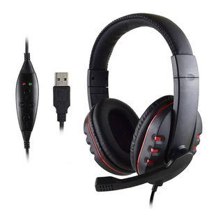 CASQUE RÉALITÉ VIRTUELLE Casque Audio Microphone USB Cuir pour Console Play