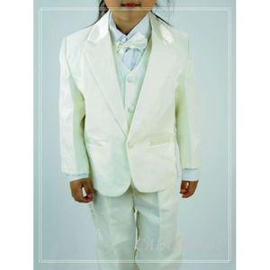 COSTUME - TAILLEUR Costume gilet enfant garçon mariage VCS47 IVOIRE