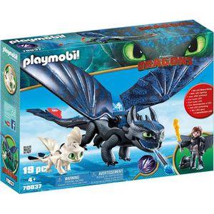 FIGURINE - PERSONNAGE PLAYMOBIL 70037 - Dragons 3 - Krokmou et Harold av
