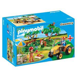 FIGURINE - PERSONNAGE Playmobil 6870 - Jeu - Couple De Fermiers Avec Véh