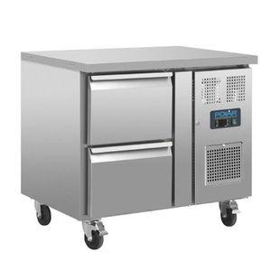 ARMOIRE RÉFRIGÉRÉE Table réfrigérée positive - 2 tiroirs 124 L