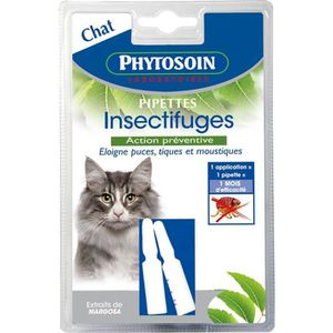 ANTIPARASITAIRE PHYTOSOIN Pipettes insectifuges - Pour chat - Lot