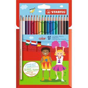 Boîte de classement STABILO 18 crayons de couleur STABILO Color