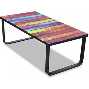 Table basse resine tressee - Achat / Vente pas cher