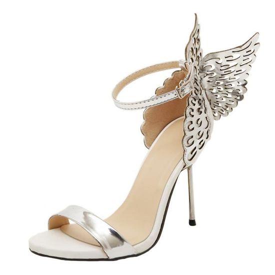 Mode Paillettes Femmes Bowknot Chaussures Bronzants Sandalesargent Escarpin Valentine Big W9IDHE2