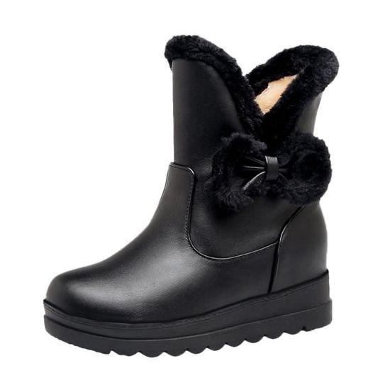 Bottes Tube Chaussures Femmes Warm à Hiver Neige Court 4688 Keep Flat Antidérapantes De Bow SUMVpz