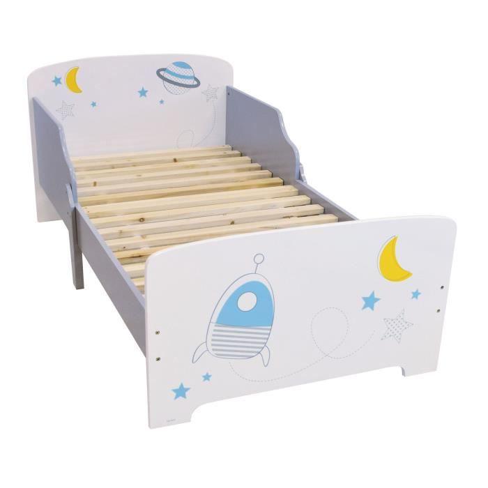 Fun House espace lit 140x70 cm avec lattes pour enfant