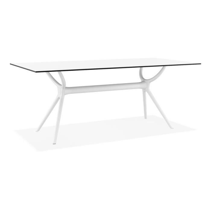 Exterieur Design 'ocean' Cm Matière Interieur 180x90 Table En Blanche Plastique 8Nnwvm0