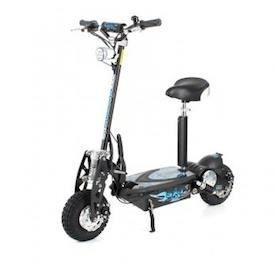 trottinette électrique sxt scooter 1000 w turbo noire batterie
