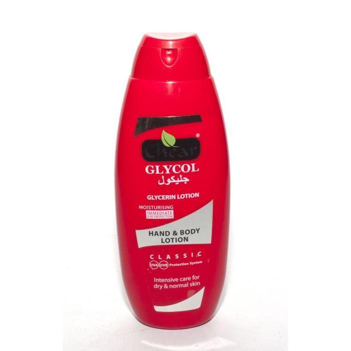 Chear Glycol Glycerine Lait hydratante pour les mains et le corps ... c5c3b913477