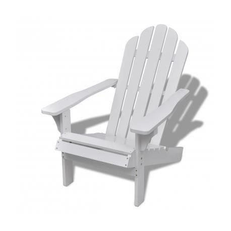 Chaise de salon jardin en bois blanche chaise relaxation achat vente fauteuil jardin chaise Salon de jardin bois cdiscount