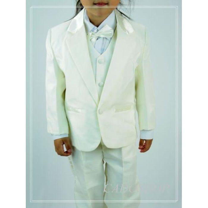 Costume gilet enfant garçon mariage VCS47 IVOIRE Beige - Achat ... 46d9c31289a