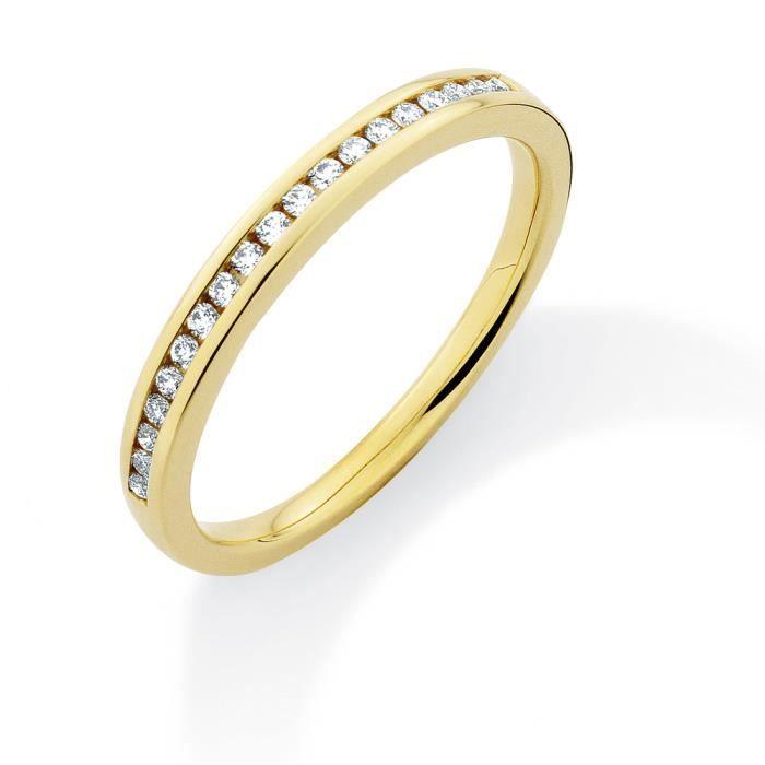 Jewelco LondonOr Jaune 18k diamant éternité éternité bague TkRHJ9x7