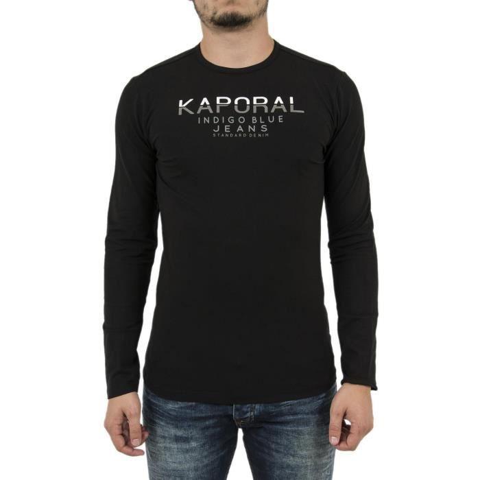 Tee shirt manches longues kaporal ponio noir Noir Noir - Achat ... 8cb1979c4d76
