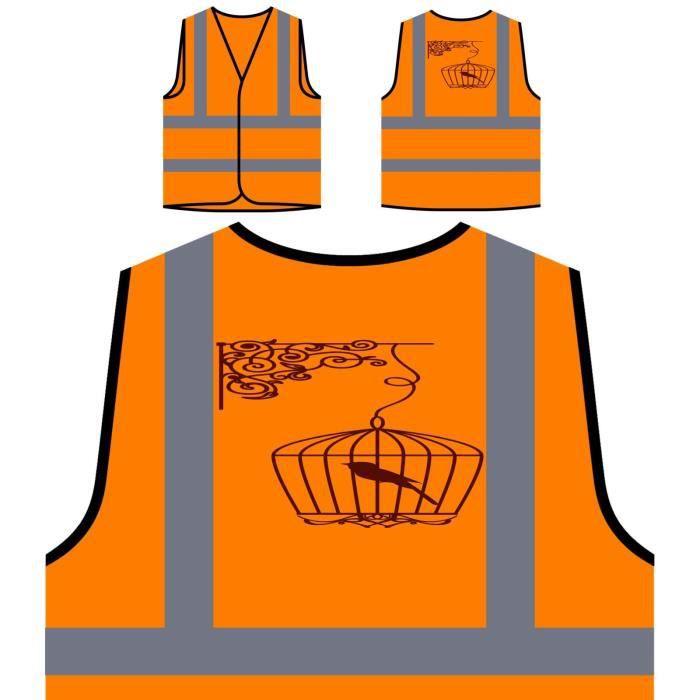 Protection Art À De Retro Old Orange Personnalisée Visibilitévintage Veste Haute PnwOk0