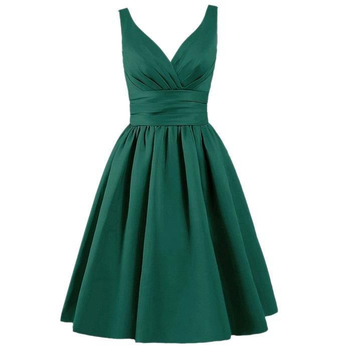 La robe de demoiselle dhonneur décolletée des femmes lacent dos robes de retour