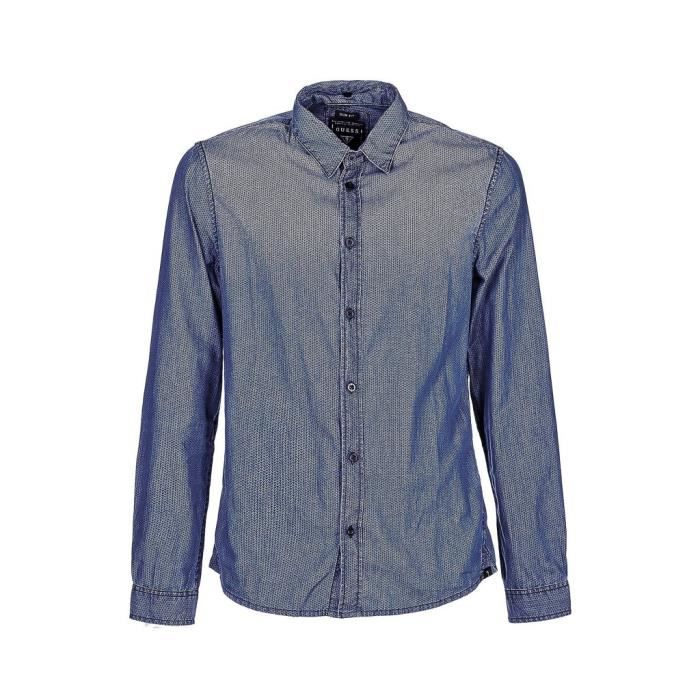 JEANS Achat Bleue XL Bleue Homme Vente UOMO Bleu GUESS Chemise TgO1Svw 9b311f94b49
