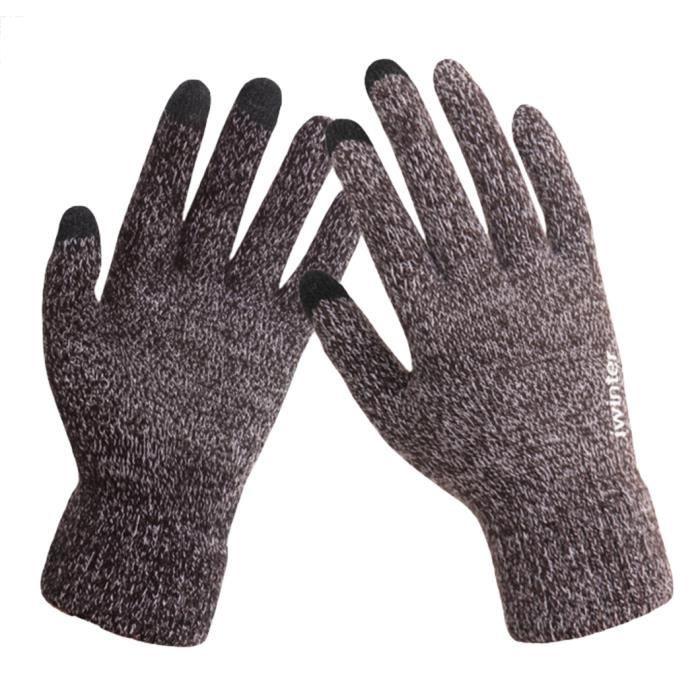 da30af37017d EOZY Gants Homme Femme Écran Tactile Mode Gant Gloves Elegant Hiver ...