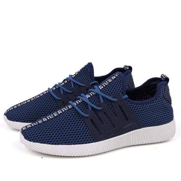 Chaussures De Sport Pour Hommes Textile De Course Casual BZH-XZ130Bleu41