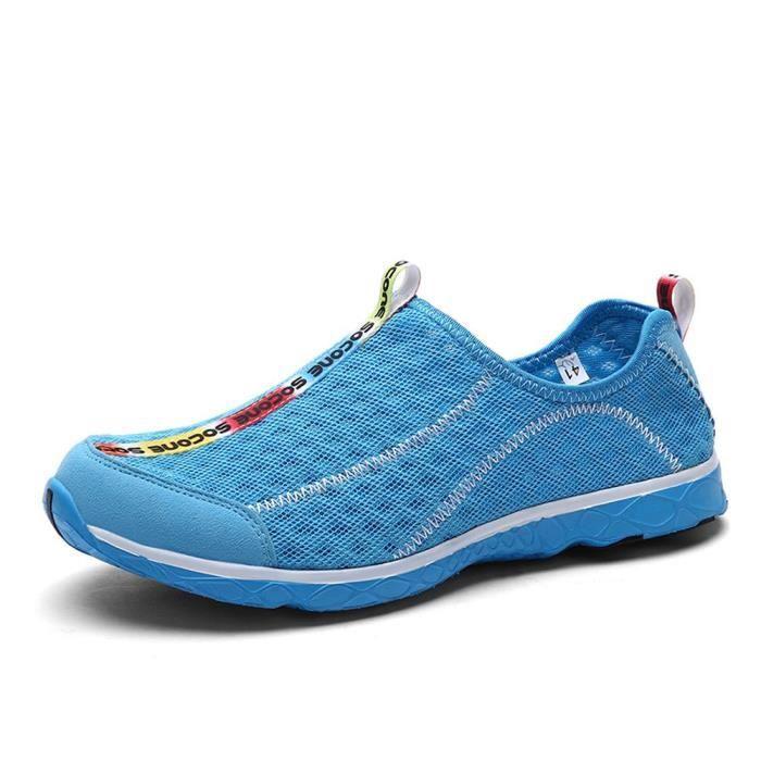 Combinaison en maille sur les chaussures de l'eau Séchage rapide Aqua Chaussures d'eau Respirant ZQBQI 44 LNbiLEi8