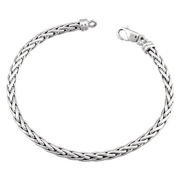 Bracelet Maille Palmier Or 18K blanc 2305G-18