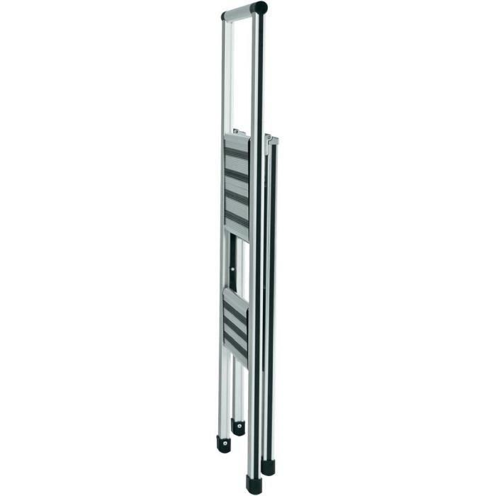 ECHASSES Escabeau pliable en aluminium 2 marches Wenko