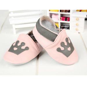 Les mocassins de cuir chaussures de bébé fille baby shoes pantoufles chaussures bambin bd infantil V4JW11h