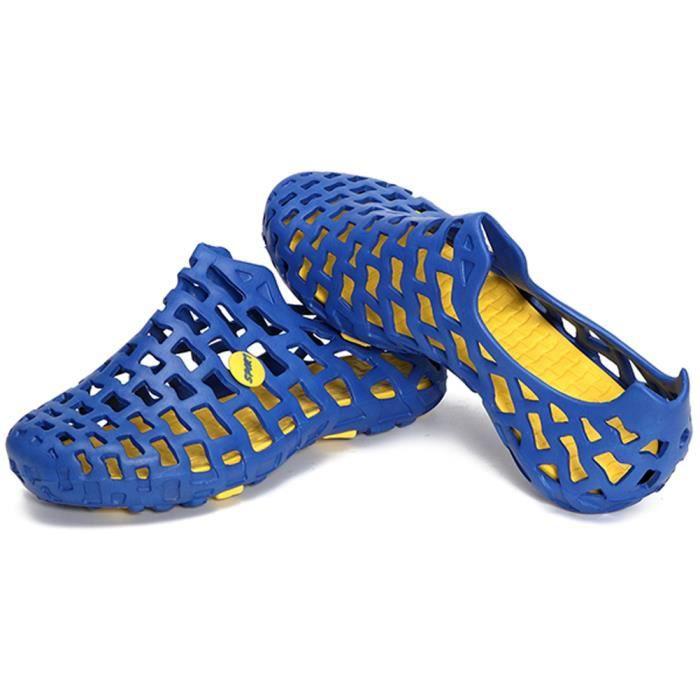 Minetom Unisexe Été Coloré Antidérapant Respirant Creux Sandales Chaussons Flip Flops Tongs Pluie Plat Chaussures Plage f3DPd