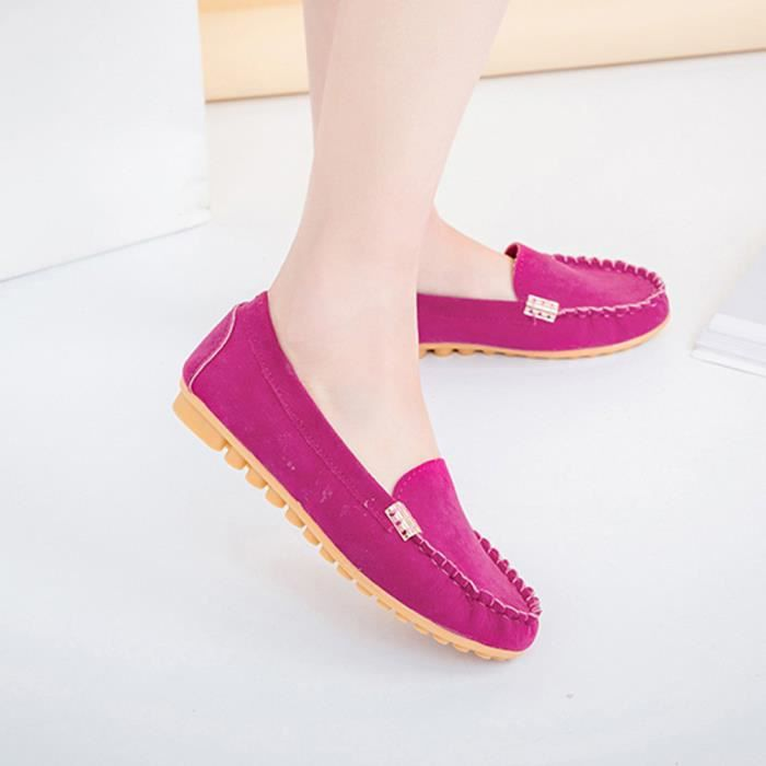 Flats Casual Femme Chaussures on Vif Slip Comfy Rose Boat Xmm71214532ho 5xU44aT