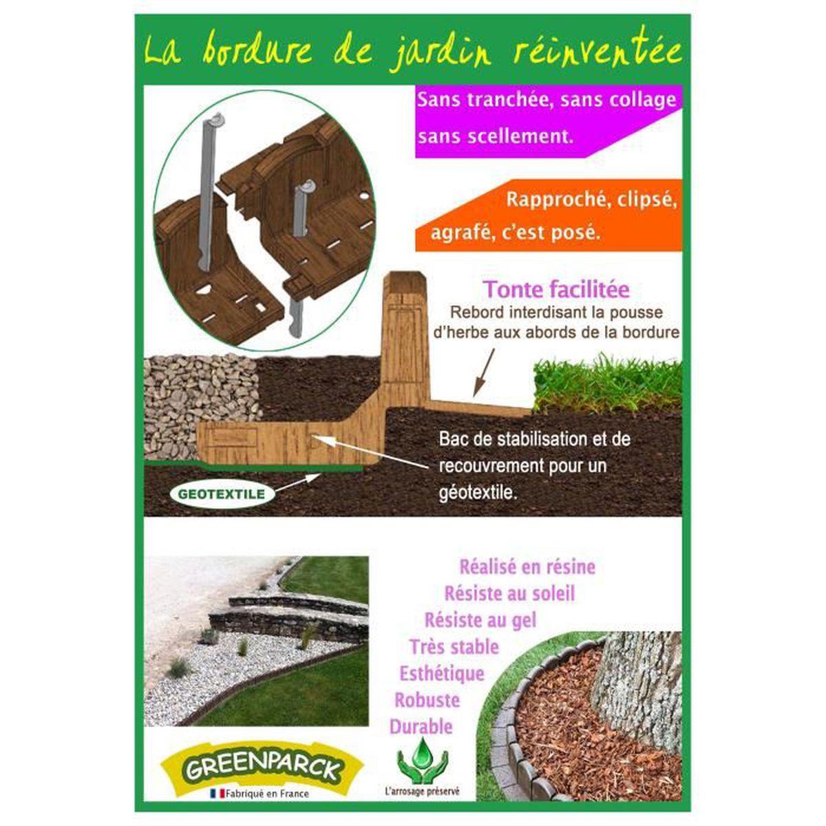 Bordure de jardin en résine composite - Achat / Vente ...