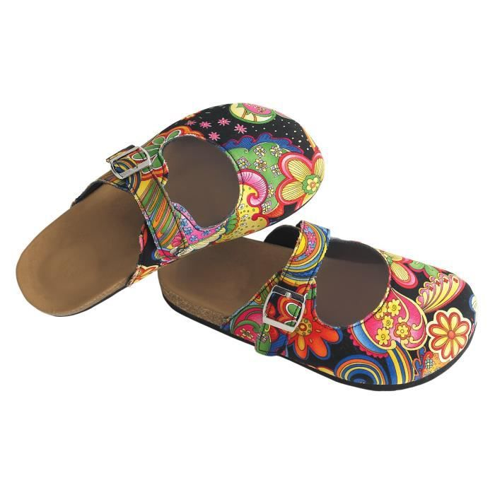 Paisley Slip-on sabots, chaussures confortables Mule E32K5 Taille-37