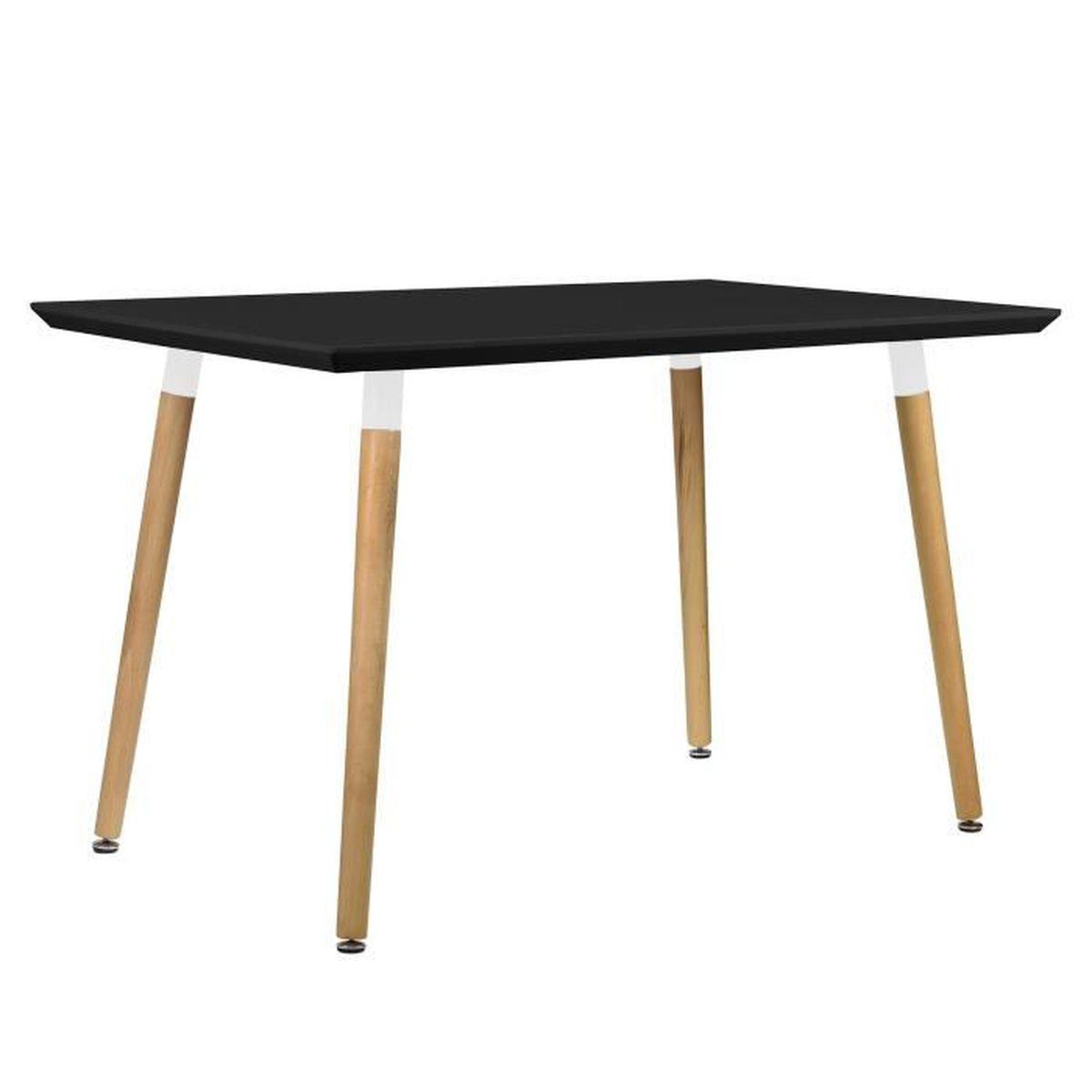 Salle En Table Chaises Noir 120x80cm casa Manger De 4 À Pour 34qjSALc5R
