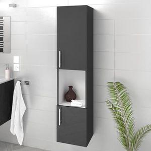 COLONNE - ARMOIRE SDB LUNA / LIMA Colonne de salle de bain L 25 cm - Gri