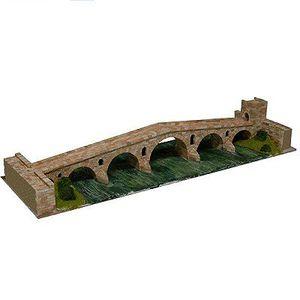 GARAGE - BATIMENT Maquette en céramique - Puente la Reina, Gares
