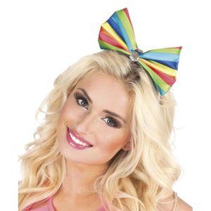 ACCESSOIRE DÉGUISEMENT Coiffe noeud papillon clown multicolore femme - 22