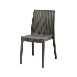 Chaise de jardin en résine couleur anthracite EG55136