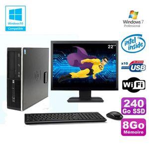 UNITÉ CENTRALE  Lot PC HP 8100 SFF G6950 2,8GHz 8Go 240Go SSD Wifi