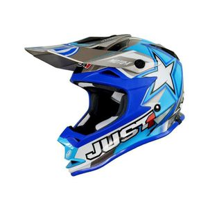 CASQUE MOTO SCOOTER Casque Cross Just1 J32 Moto X Bleu Taille S