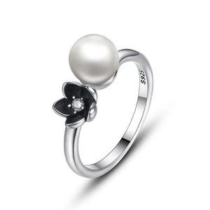 bague perle noire pas cher