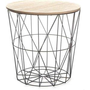 """TABLE D'APPOINT Paris Prix - Table d'Appoint Design """"Kumi"""" 41cm Na"""