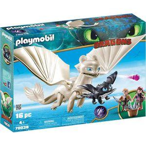 FIGURINE - PERSONNAGE PLAYMOBIL 70038 - Dragons 3 - Furie Éclair et bébé