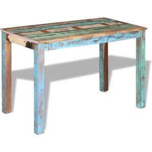 TABLE À MANGER SEULE vidaXL Table de salle à manger Bois de récupératio