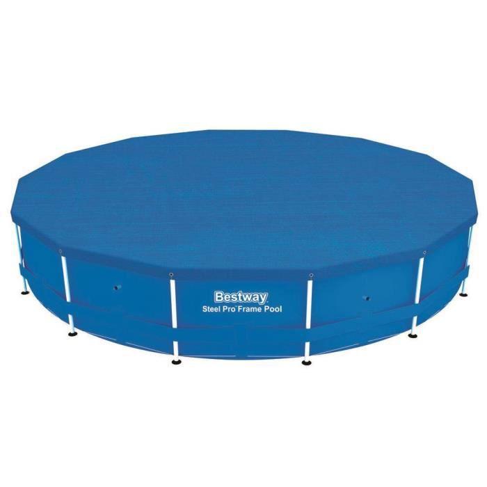 BESTWAY Bâche 4 saisons pour piscine Frame Pool ronde 457x91cm