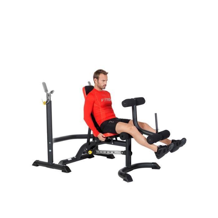 FYTTER Banc de musculation semi-professionnel BE-05R multi-exercices avec plusieurs postitions.
