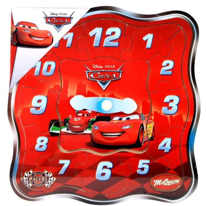 CARS - Puzzle en bois - 12 Pièces forme horloge - Mixte - A partir de 18 mois - Livré à l'unitéPUZZLE