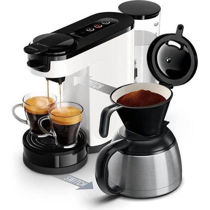 PHILIPS HD6592/01 Machine à café 2 en 1 Senseo Switch - machine à dosettes et café filtre - Verseuse