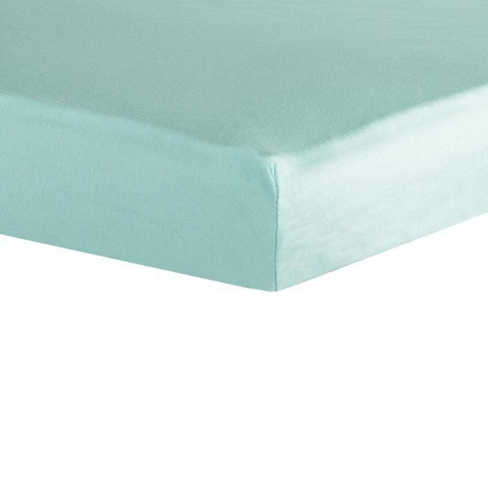 TROIS KILOS SEPT Drap housse - 40x80 cm - Jade