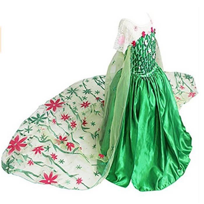 robe reine des neiges verte achat vente jeux et jouets pas chers. Black Bedroom Furniture Sets. Home Design Ideas