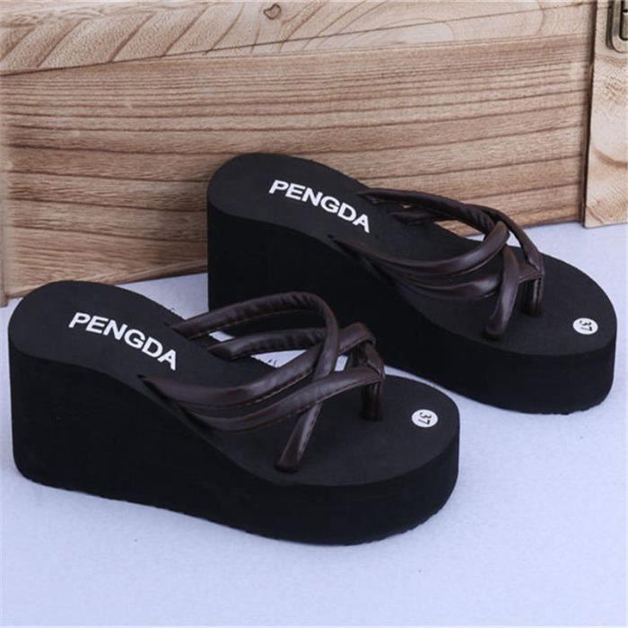 pantoufles femmes marque de luxe d'été qualité supérieure Plus de couleur marron noir rose 2017 nouvelle arrivee chaussure 3tm77Esu